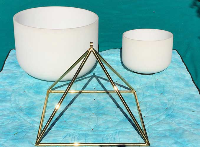 Quartz Crystal Bowls and Pyramids